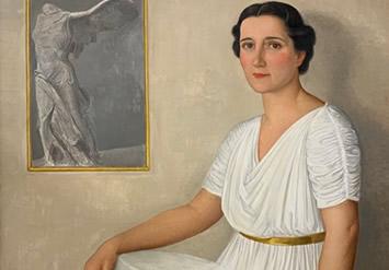 Portrait de Marie-Louise Signoret par Ángel Zárraga, 1943